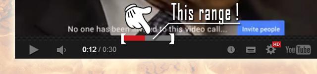 指定した範囲だけ動画を再生させる